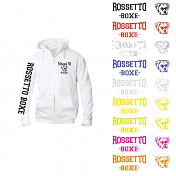 FELPA ROSSETTO BOXE BASIC HOODY FULL ZIP LADY